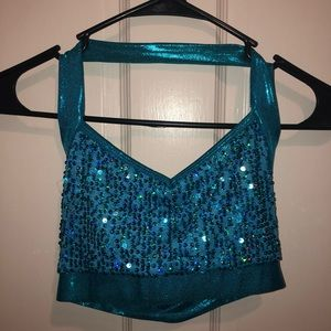 Sequin dance audition top